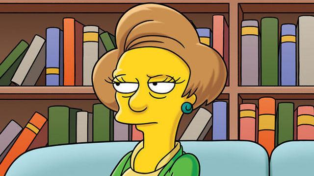 Edna Krabappel, personaje de los Simpsons, firmó un estudio científico. Imagen tomada de https://www.elespanol.com/ciencia/investigacion/20170612/223227819_0.html